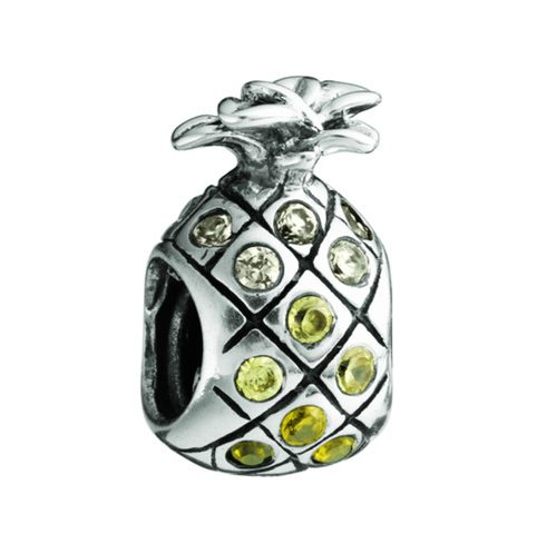 Chamilia Pineapple-Yellow & Clear Swarovski(Limited availability 1