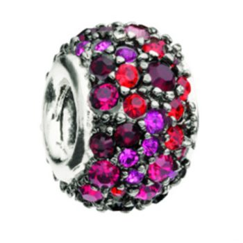 Chamilia Jewelled Kaleidoscope - Red & Black Swarovski