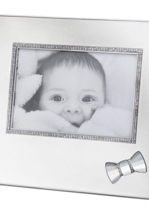 Baby Picture Frame With Bow 1