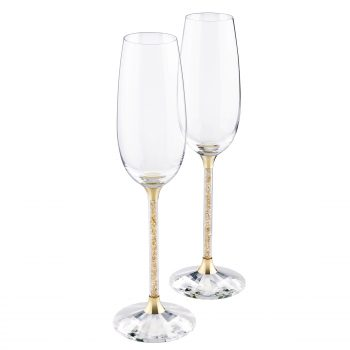 Crystalline Toasting Flutes Golden Shadow (Set Of 2)