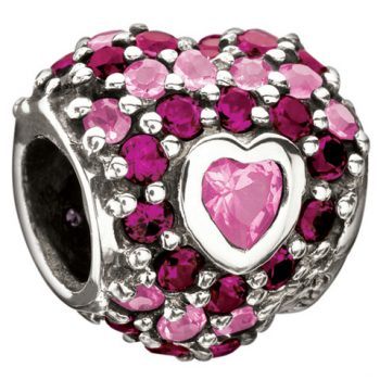 Chamilia Jewelled Heart In Heart- Pink Cz(Limited availability)