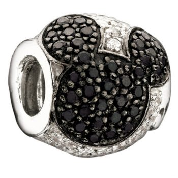 Chamilia Jewelled Mickey- Black And Clear Cz