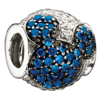 Chamilia Jewelled Mickey- Blue And Clear Cz